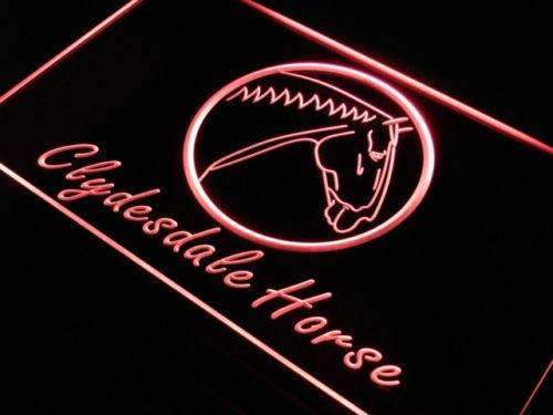 Clydesdale Horse Neon Sign (LED)-Way Up Gifts