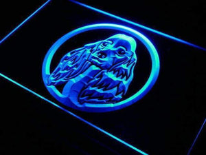 Cocker Spaniel Neon Sign (LED)-Way Up Gifts