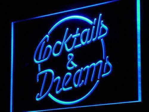 Cocktails and Dreams II LED Neon Light Sign - Way Up Gifts