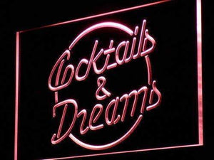 Cocktails and Dreams II Neon Sign (LED)-Way Up Gifts