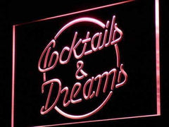 Cocktails and Dreams II LED Neon Light Sign