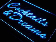 Cocktails and Dreams III LED Neon Light Sign