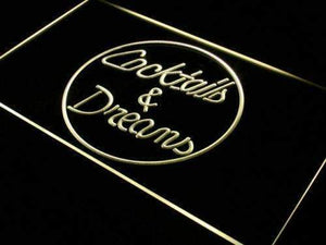 Cocktails and Dreams Neon Sign (LED)-Way Up Gifts