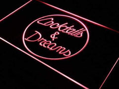 Cocktails and Dreams LED Neon Light Sign