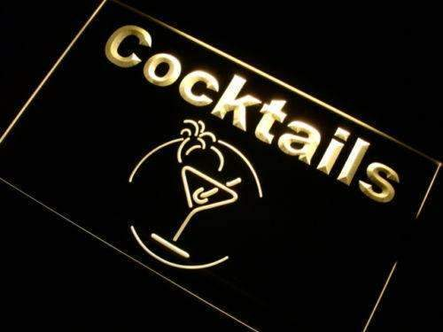 Cocktails II LED Neon Light Sign - Way Up Gifts