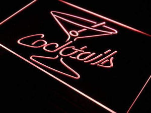 Cocktails Neon Sign (LED)-Way Up Gifts