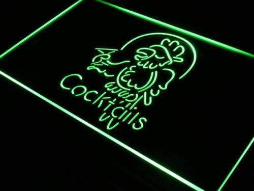 Cocktails Parrot II Neon Sign (LED)-Way Up Gifts