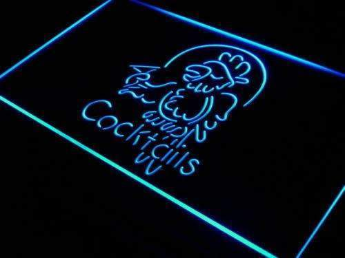 Cocktails Parrot II LED Neon Light Sign  Business > LED Signs > Beer & Bar Neon Signs - Way Up Gifts