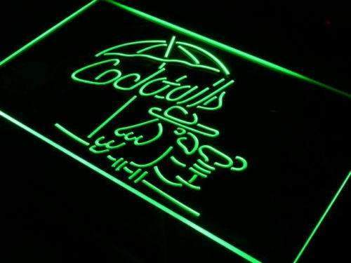 Cocktails Parrot Neon Sign (LED)-Way Up Gifts