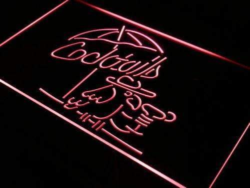 Cocktails Parrot LED Neon Light Sign