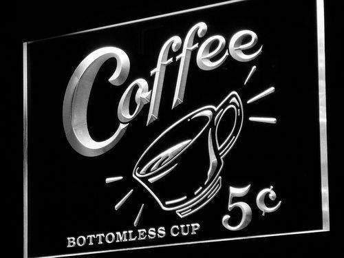 Coffee 5 Cents Vintage LED Neon Light Sign - Way Up Gifts