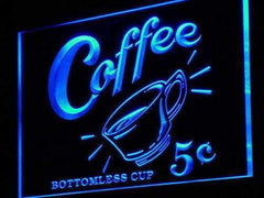 Coffee 5 Cents Vintage LED Neon Light Sign