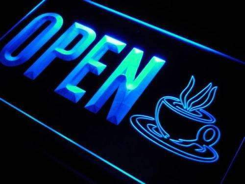 Coffee Cafe Open Neon Sign (LED)-Way Up Gifts