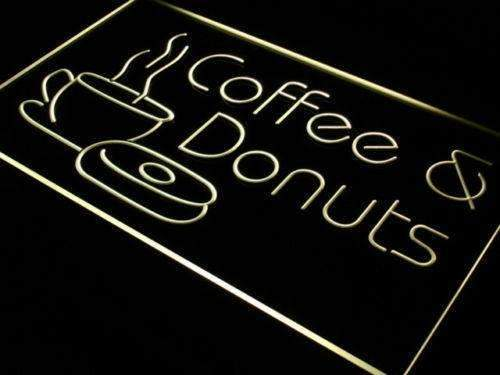 Coffee Donuts LED Neon Light Sign - Way Up Gifts
