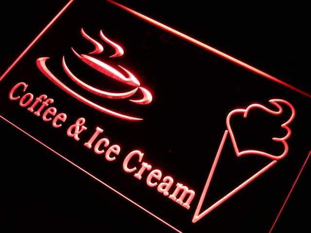 Coffee Ice Cream LED Neon Light Sign - Way Up Gifts