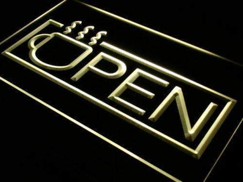 Coffee Open Neon Sign (LED)-Way Up Gifts