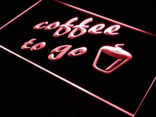 Coffee to Go LED Neon Light Sign  Business > LED Signs > Bakery & Cafe Neon Signs > Coffee Neon Signs - Way Up Gifts