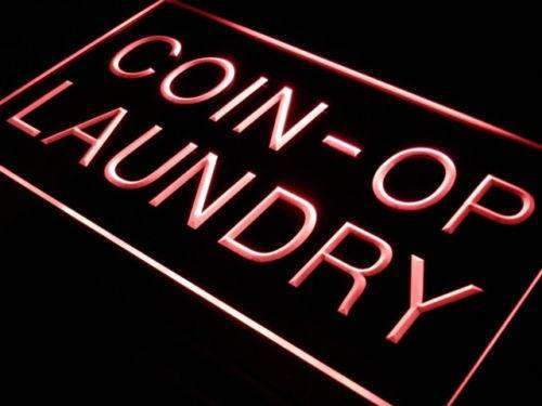 Coin Operated Laundry Laundromat LED Neon Light Sign  Business > LED Signs > Uncategorized Neon Signs - Way Up Gifts
