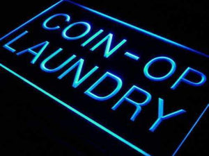 Coin Operated Laundry Laundromat Neon Sign (LED)-Way Up Gifts