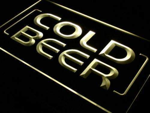 Cold Beer Store Bar LED Neon Light Sign - Way Up Gifts