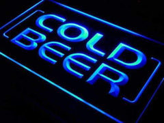 Cold Beer Store Bar LED Neon Light Sign