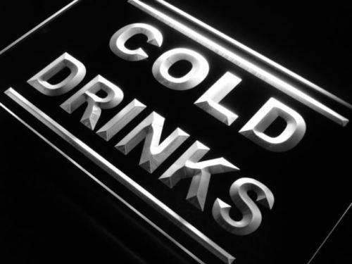 Cold Drinks Neon Sign (LED)-Way Up Gifts