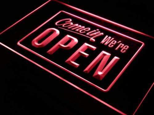 Come In We're Open Neon Sign (LED)-Way Up Gifts