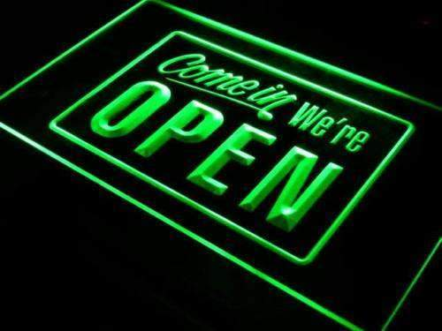 Come In We're Open LED Neon Light Sign - Way Up Gifts