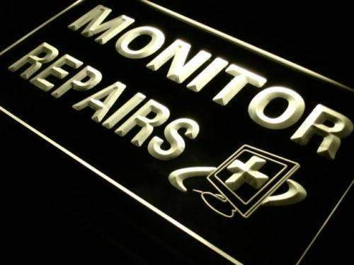 Computer Monitor Repairs LED Neon Light Sign - Way Up Gifts