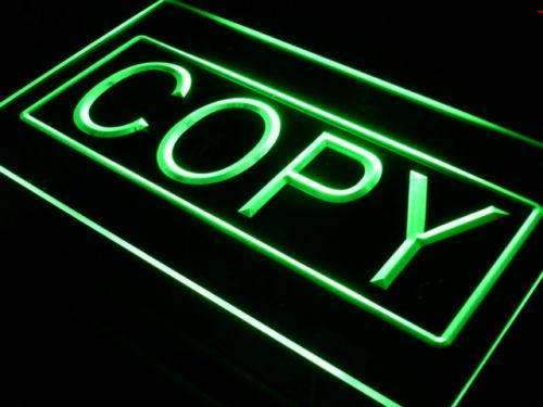 Copying Services Copy LED Neon Light Sign - Way Up Gifts