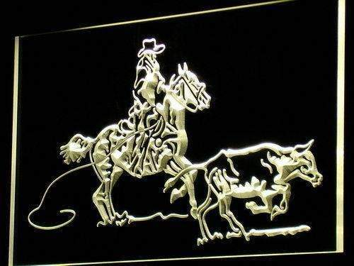 Cowboy Horse Cow Decor Neon Sign (LED)-Way Up Gifts