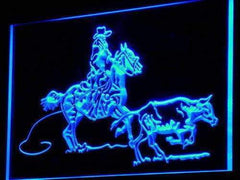 Cowboy Horse Cow Decor LED Neon Light Sign