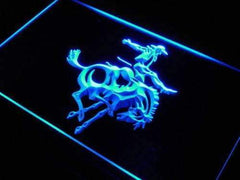 Cowboy Riding Horse LED Neon Light Sign