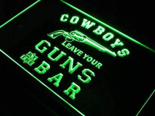 Cowboys Leave Guns Bar II LED Neon Light Sign - Way Up Gifts