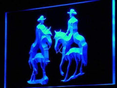 Cowboys Riding Horses LED Neon Light Sign