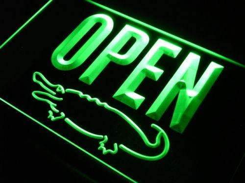 Crocodile Display Open LED Neon Light Sign - Way Up Gifts