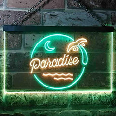 Beach Palm Tree Paradise Island LED Neon Light Sign