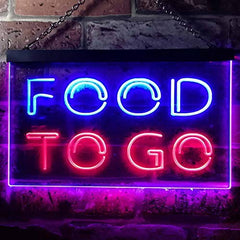 Carry Out Take Away Food to Go LED Neon Light Sign