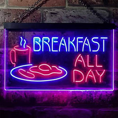 Breakfast All Day LED Neon Light Sign