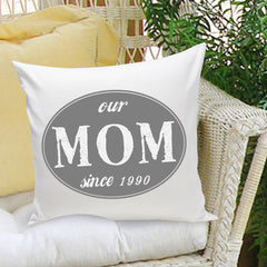 Personalized Mom Stamp Throw Pillow