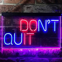 Don't Quit Do It Positive Quote Wall Décor LED Neon Light Sign
