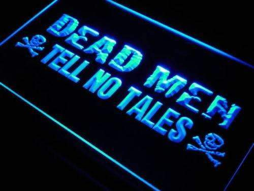 Dead Men Tell No Tales Pirate LED Neon Light Sign - Way Up Gifts