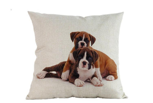 Decorative Boxer Dog Couch Throw Pillow