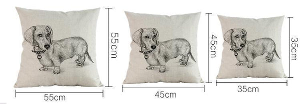 Dachshund Pillow (Photo Print)