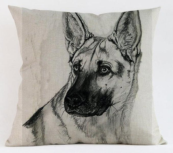 Decorative German Shepherd Couch Throw Pillow