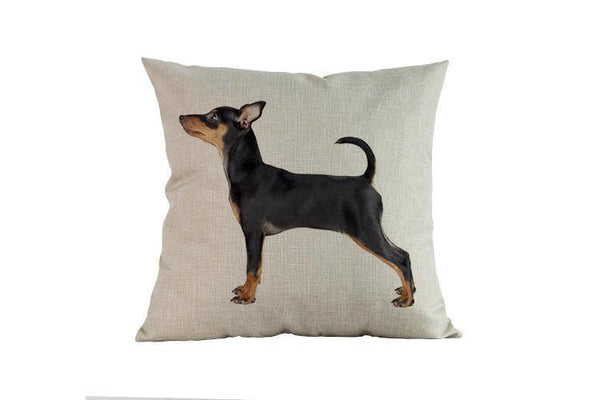 Miniature Pinscher Pillow 14x14