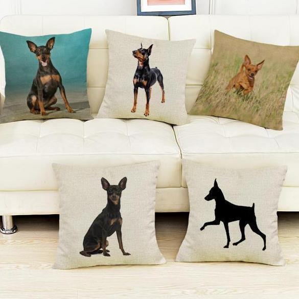 Miniature Pinscher Pillow  Home > Throw Pillows > Dog Throw Pillows - Way Up Gifts