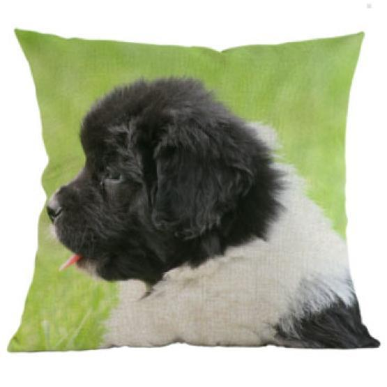 Decorative Newfoundland Dog Couch Throw Pillow