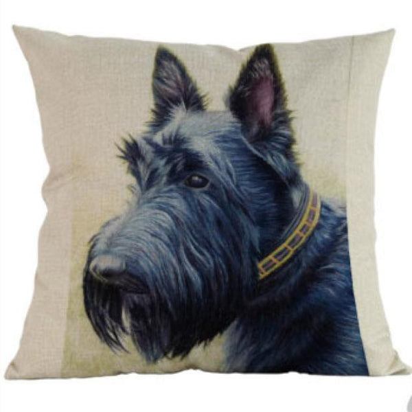 Decorative Scottish Terrier Scottie Dog Couch Throw Pillow