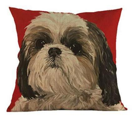 Decorative Shih Tzu Couch Throw Pillow